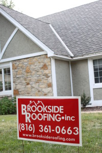 Brookside Roofing Sign