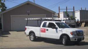 Brookside Roofing Truck & Supply Garage